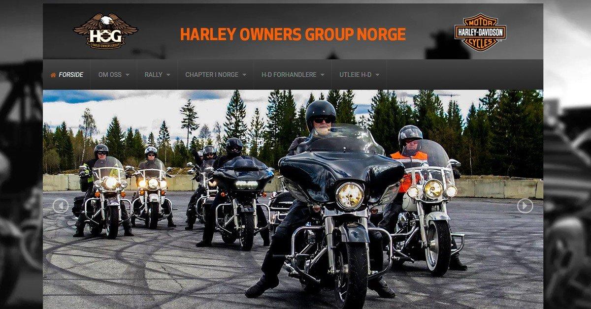 Nettsider for Harley Owners Group