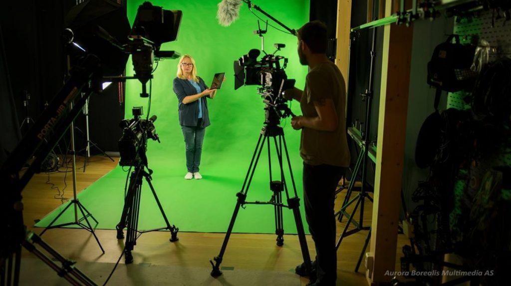 Filmstudio i Lofoten - greescreen