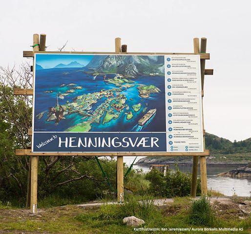Illustrasjonskart av Henningsvær