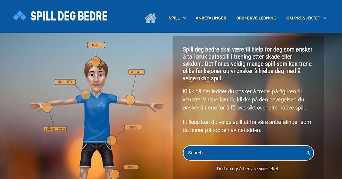 Interaktiv nettside for Sunnaas Sykehus