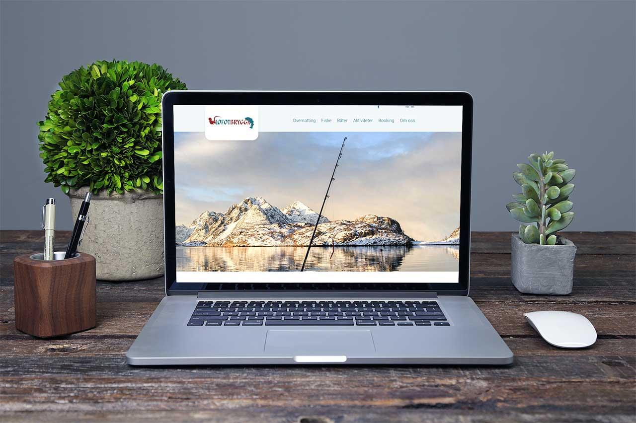 Resposiv nettside for Lofotbrygga