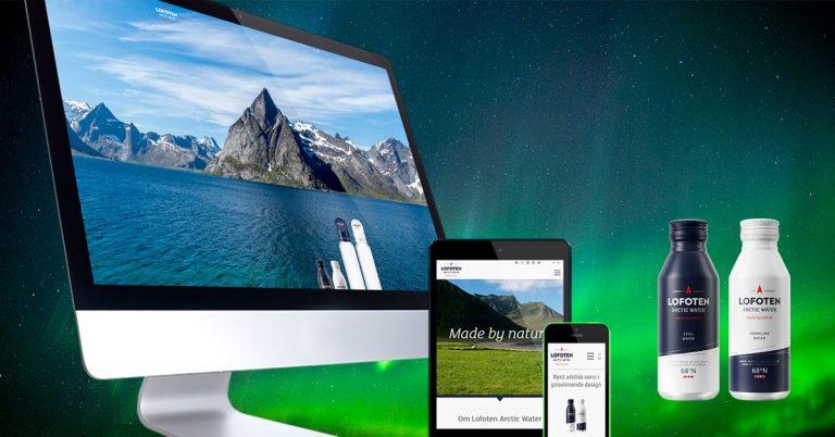 Aurora Borealis har designet og utviklet ny nettside for Lofoten Arctic Water